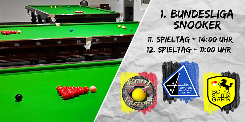 Snooker Bundesliga geht in den Endspurt